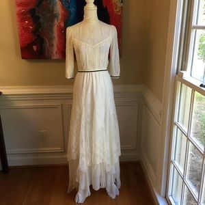 ALICE & OLIVIA Ivory Lace Silk Maxi Dress NWT